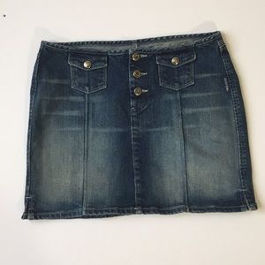 Silver Jeans Mini Skirt button up